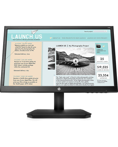 HP V190 18.5-inch LED Backlit Monitor-SHRO450
