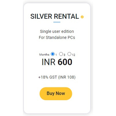TallyPrime Silver - Rental (1 Month)-Silver_rent