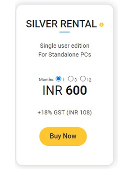 TallyPrime Silver -Rental (1 Month)