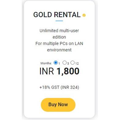 TallyPrime Gold - Rental (1Month)-Gold-rent