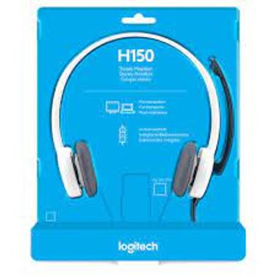Logitech H150 Stereo Headset (Cloud White)-1