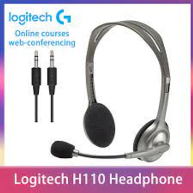 Logitech H110 Wired headset, Stereo Headphones-3