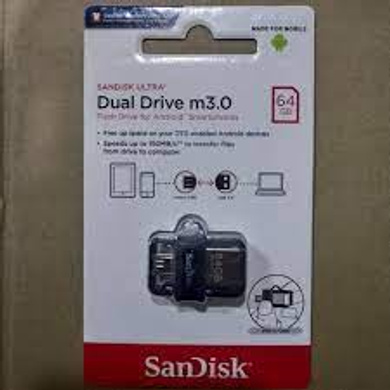 SanDisk Ultra Dual Drive 64 GB OTG Drive  (Silver, Grey, Type A to Micro USB)-1