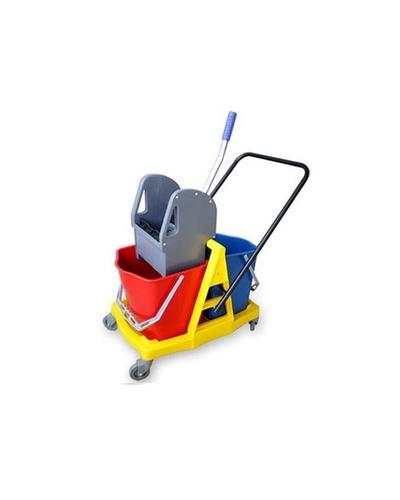 Down Press Double Bucket Wringer Trolley-10414402