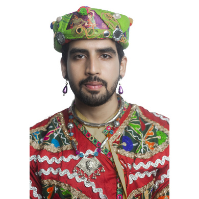 S H A H I T A J Cotton Kathiyawadi Navratri or Gujarati Safa Pagdi Turban Multi-Colored for Kids and Adults (RT01)-18-3