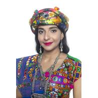 S H A H I T A J Cotton Kathiyawadi Navratri or Gujarati Safa Pagdi Turban Multi-Colored for Kids and Adults (RT420)