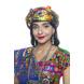 S H A H I T A J Satin Kathiyawadi Navratri or Gujarati Safa Pagdi Turban Multi-Colored for Kids and Adults (RT420)-ST43_18andHalf-sm