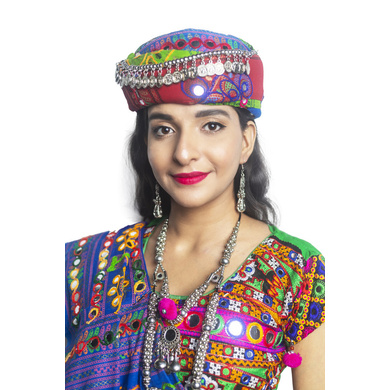 S H A H I T A J Cotton Kathiyawadi Navratri or Gujarati Safa Pagdi Turban Multi-Colored for Kids and Adults (RT422)-ST45_21andHalf