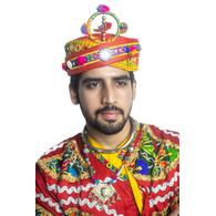 S H A H I T A J Cotton Kathiyawadi Navratri or Gujarati Safa Pagdi Turban Multi-Colored for Kids and Adults (RT423)