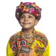 S H A H I T A J Cotton Kathiyawadi Navratri or Gujarati Safa Pagdi Turban Multi-Colored for Kids and Adults (RT426)
