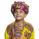 S H A H I T A J Satin Kathiyawadi Navratri or Gujarati Safa Pagdi Turban Multi-Colored for Kids and Adults (RT426)-ST49_21andHalf-sm