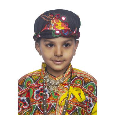 S H A H I T A J Cotton Kathiyawadi Navratri or Gujarati Safa Pagdi Turban Multi-Colored for Kids and Adults (RT427)-ST50_18andHalf
