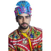 S H A H I T A J Cotton Kathiyawadi Navratri or Gujarati Safa Pagdi Turban Multi-Colored for Kids and Adults (RT429)