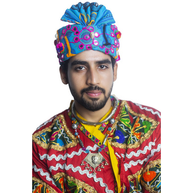 S H A H I T A J Cotton Kathiyawadi Navratri or Gujarati Safa Pagdi Turban Multi-Colored for Kids and Adults (RT429)-ST52_20andHalf