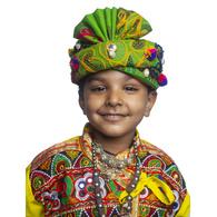S H A H I T A J Cotton Kathiyawadi Navratri or Gujarati Safa Pagdi Turban Multi-Colored for Kids and Adults (RT431)
