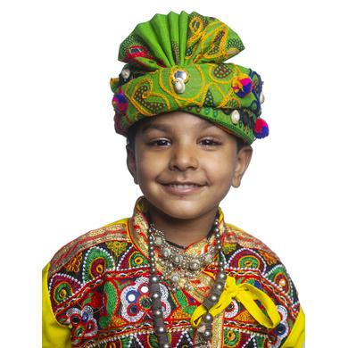 S H A H I T A J Cotton Kathiyawadi Navratri or Gujarati Safa Pagdi Turban Multi-Colored for Kids and Adults (RT431)-ST54_18andHalf
