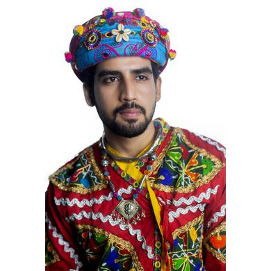 S H A H I T A J Cotton Kathiyawadi Navratri or Gujarati Safa Pagdi Turban Multi-Colored for Kids and Adults (RT432)-ST55_18andHalf