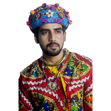 S H A H I T A J Cotton Kathiyawadi Navratri or Gujarati Safa Pagdi Turban Multi-Colored for Kids and Adults (RT432)-ST55_23andHalf