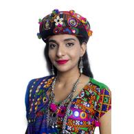 S H A H I T A J Cotton Kathiyawadi Navratri or Gujarati Safa Pagdi Turban Multi-Colored for Kids and Adults (RT433)