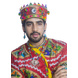 S H A H I T A J Satin Kathiyawadi Navratri or Gujarati Safa Pagdi Turban Multi-Colored for Kids and Adults (RT435)-18-3-sm
