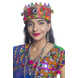 S H A H I T A J Satin Kathiyawadi Navratri or Gujarati Safa Pagdi Turban Multi-Colored for Kids and Adults (RT435)-ST58_18-sm