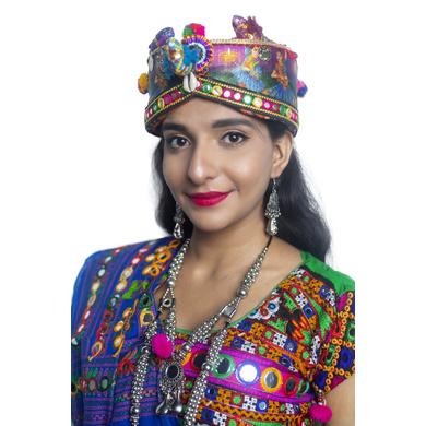 S H A H I T A J Cotton Kathiyawadi Navratri or Gujarati Safa Pagdi Turban Multi-Colored for Kids and Adults (RT434)-ST57_18