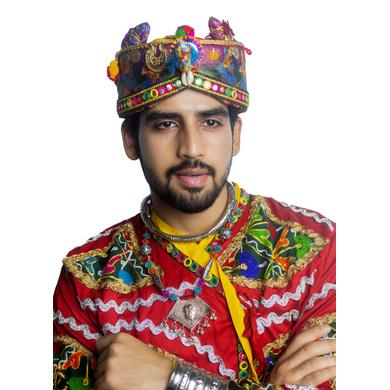 S H A H I T A J Cotton Kathiyawadi Navratri or Gujarati Safa Pagdi Turban Multi-Colored for Kids and Adults (RT434)-18-3