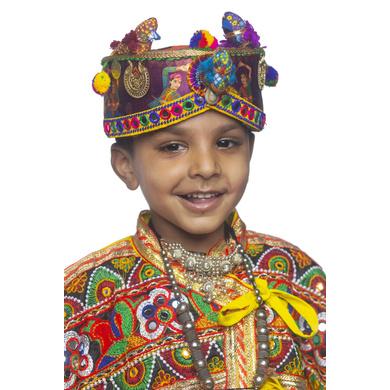 S H A H I T A J Cotton Kathiyawadi Navratri or Gujarati Safa Pagdi Turban Multi-Colored for Kids and Adults (RT434)-18-4