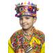 S H A H I T A J Satin Kathiyawadi Navratri or Gujarati Safa Pagdi Turban Multi-Colored for Kids and Adults (RT436)-ST59_18-sm
