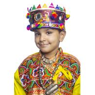 S H A H I T A J Cotton Kathiyawadi Navratri or Gujarati Safa Pagdi Turban Multi-Colored for Kids and Adults (RT436)