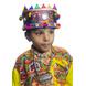 S H A H I T A J Satin Kathiyawadi Navratri or Gujarati Safa Pagdi Turban Multi-Colored for Kids and Adults (RT436)-18-3-sm