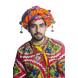 S H A H I T A J Cotton Kathiyawadi Navratri or Gujarati Safa Pagdi Turban Multi-Colored for Kids and Adults (RT437)-18-3-sm