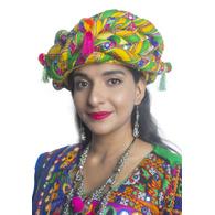 S H A H I T A J Cotton Kathiyawadi Navratri or Gujarati Safa Pagdi Turban Multi-Colored for Kids and Adults (RT438)