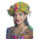 S H A H I T A J Cotton Kathiyawadi Navratri or Gujarati Safa Pagdi Turban Multi-Colored for Kids and Adults (RT438)-ST61_23andHalf-sm