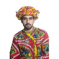 S H A H I T A J Cotton Kathiyawadi Navratri or Gujarati Safa Pagdi Turban Multi-Colored for Kids and Adults (RT439)