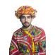 S H A H I T A J Cotton Kathiyawadi Navratri or Gujarati Safa Pagdi Turban Multi-Colored for Kids and Adults (RT439)-ST62_18andHalf-sm