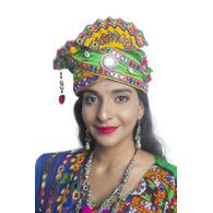 S H A H I T A J Cotton Kathiyawadi Navratri or Gujarati Safa Pagdi Turban Multi-Colored for Kids and Adults (RT440)