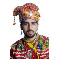 S H A H I T A J Cotton Kathiyawadi Navratri or Gujarati Safa Pagdi Turban Multi-Colored for Kids and Adults (RT441)