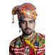 S H A H I T A J Cotton Kathiyawadi Navratri or Gujarati Safa Pagdi Turban Multi-Colored for Kids and Adults (RT441)-ST64_18andHalf-sm