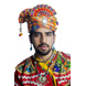 S H A H I T A J Cotton Kathiyawadi Navratri or Gujarati Safa Pagdi Turban Multi-Colored for Kids and Adults (RT441)-ST64_20andHalf-sm
