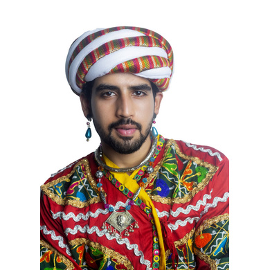 S H A H I T A J Cotton Kathiyawadi Navratri or Gujarati Safa Pagdi Turban Multi-Colored for Kids and Adults (RT24)-ST65_21andHalf