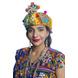 S H A H I T A J Cotton LED Kathiyawadi Navratri or Gujarati Safa Pagdi Turban Multi-Colored for Kids and Adults (RT25)-ST66_19andHalf-sm