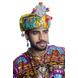 S H A H I T A J Cotton LED Kathiyawadi Navratri or Gujarati Safa Pagdi Turban Multi-Colored for Kids and Adults (RT25)-18-3-sm