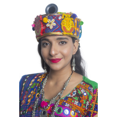 S H A H I T A J Cotton Kathiyawadi Navratri or Gujarati Safa Pagdi Turban Multi-Colored for Kids and Adults (RT26)-ST67_18andHalf