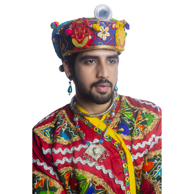 S H A H I T A J Cotton Kathiyawadi Navratri or Gujarati Safa Pagdi Turban Multi-Colored for Kids and Adults (RT26)-18-3