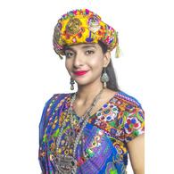 S H A H I T A J Cotton Kathiyawadi Navratri or Gujarati Safa Pagdi Turban Multi-Colored for Kids and Adults (RT28)