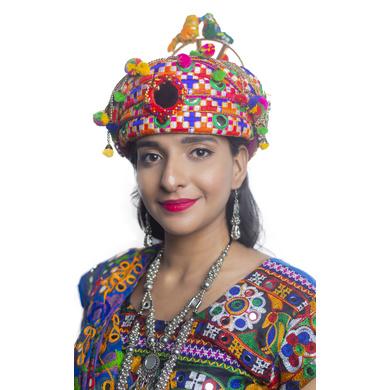 S H A H I T A J Cotton Kathiyawadi Navratri or Gujarati Safa Pagdi Turban Multi-Colored for Kids and Adults (RT29)-ST70_18