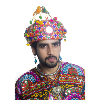 S H A H I T A J Cotton Kathiyawadi Navratri or Gujarati Safa Pagdi Turban Multi-Colored for Kids and Adults (RT29)-18-3