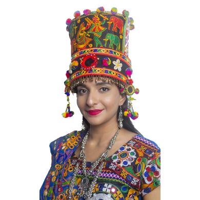 S H A H I T A J Cotton Kathiyawadi Navratri or Gujarati Safa Pagdi Turban Multi-Colored for Kids and Adults (RT30)-18-3