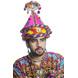 S H A H I T A J Cotton LED Kathiyawadi Navratri or Gujarati Safa Pagdi Turban Multi-Colored for Kids and Adults (RT31)-ST72_19andHalf-sm
